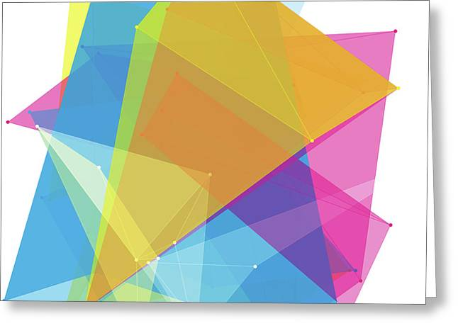 Color Polygon Pattern Greeting Card