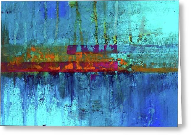 Color Pond Greeting Card by Nancy Merkle