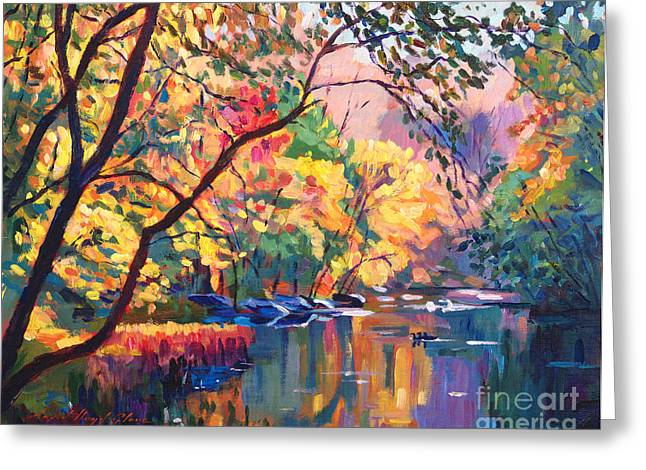 Color Reflections Plein Aire Greeting Card by David Lloyd Glover