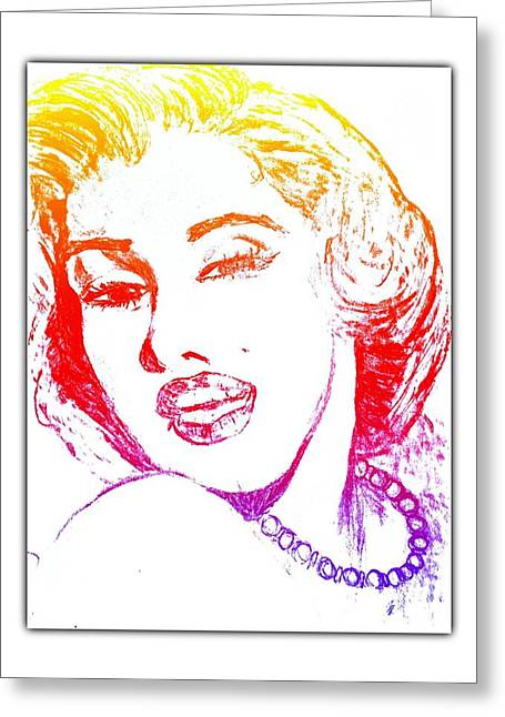 Color Rendition Of Marilyn Monroe Greeting Card