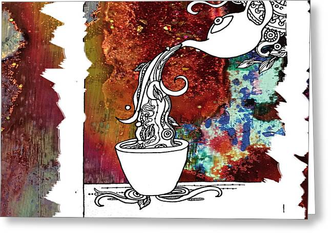Color Splash Tea Greeting Card