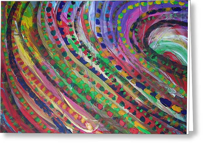Color Storm Greeting Card by Russell Simmons