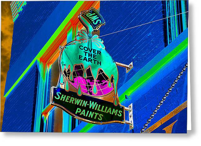 Paint Can Greeting Cards - Color the World Greeting Card by David Lee Thompson