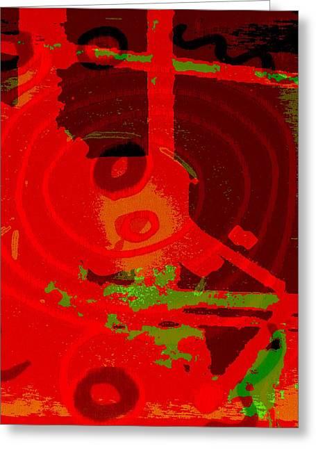 Color Trap Greeting Card by Mildred Ann Utroska        Mauk