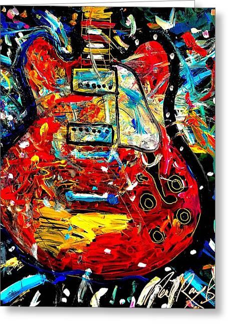 Color Wheel Guitar Greeting Card