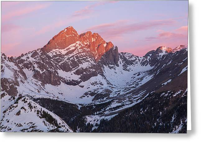 Colorado 14ers Crestone Needle And Crestone Peak Greeting Card