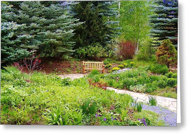 Colorado Alpine Garden Path Greeting Card