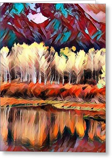 Colorado Aspens - Reflections Of Color Greeting Card