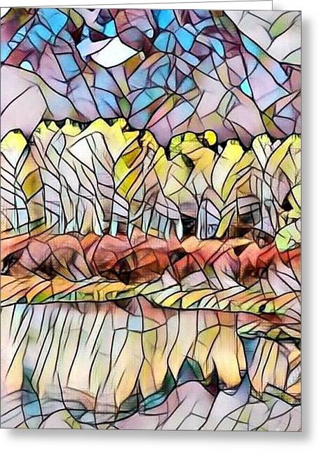 Colorado Aspens - Stained Glass Greeting Card