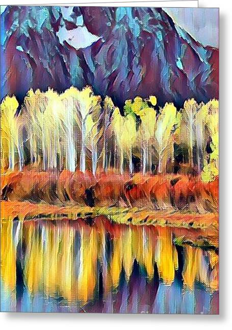 Colorado Aspens - Winters Near Abstract Greeting Card