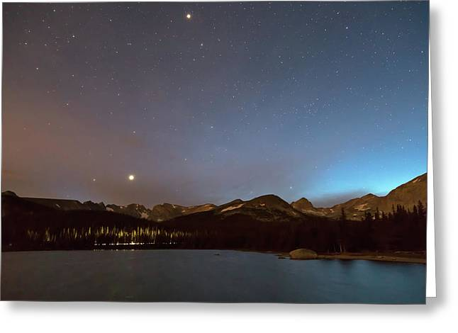 Greeting Card featuring the photograph Colorado Brainard Lake Galaxy Night by James BO Insogna