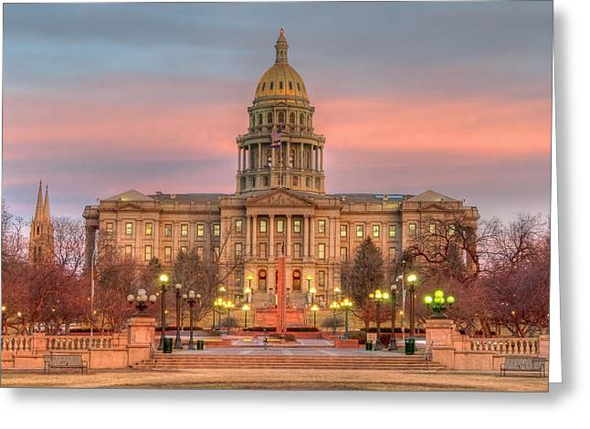 Greeting Card featuring the photograph Colorado Capital by Gary Lengyel