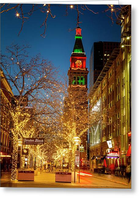Colorado Christmas In Denver Greeting Card
