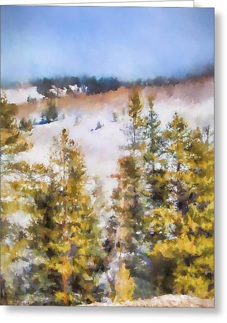 Colorado Color Splash 1 Landscape Art By Jai Johnson Greeting Card by Jai Johnson