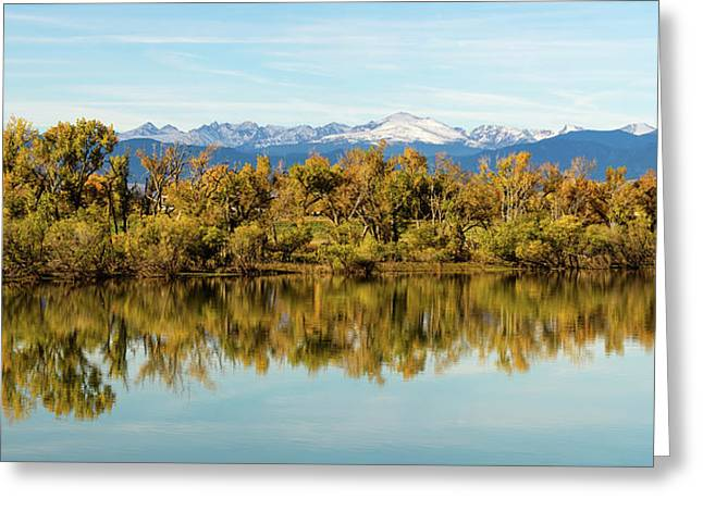 Colorado Continental Divide Autumn Reflections Panorama Greeting Card