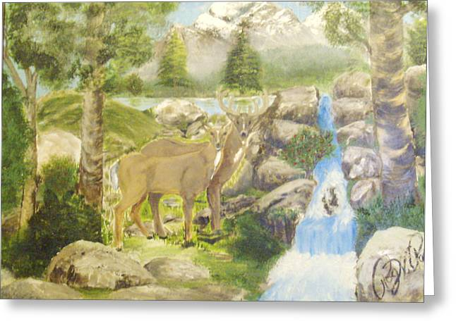 Colorado Couple Greeting Card by Roger Rambo