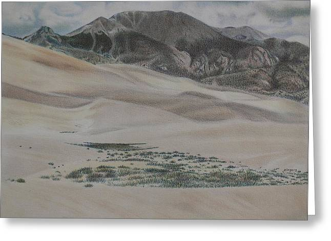 Colorado Dunes Greeting Card by Scott Kingery