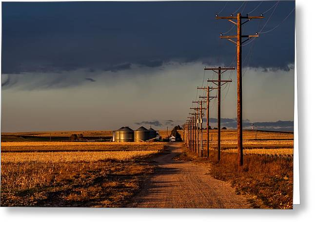 Colorado Farm Sunset Greeting Card