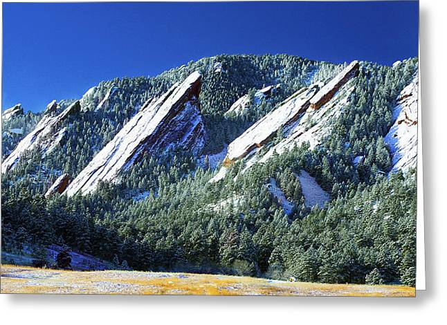 All Five Colorado Flatirons Greeting Card