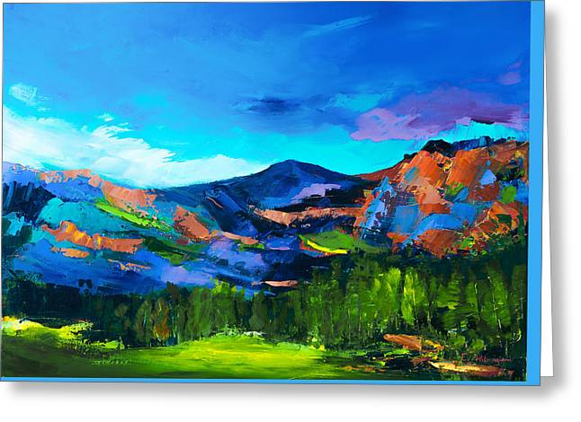 Greeting Card featuring the painting Colorado Hills by Elise Palmigiani