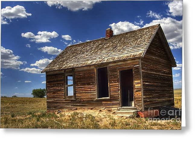 Colorado Homestead Greeting Card by Pete Hellmann