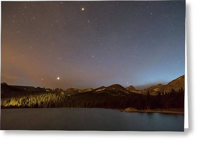 Greeting Card featuring the photograph Colorado Indian Peaks Stellar Night by James BO Insogna