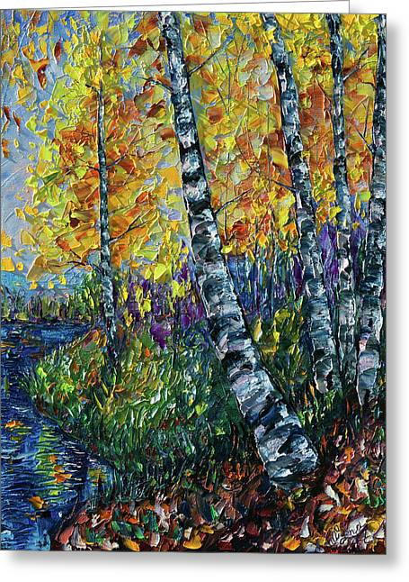 Glimpses Of Colorado Fall Colors Greeting Card