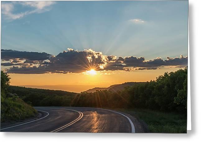 Colorado Light Greeting Card by Loree Johnson