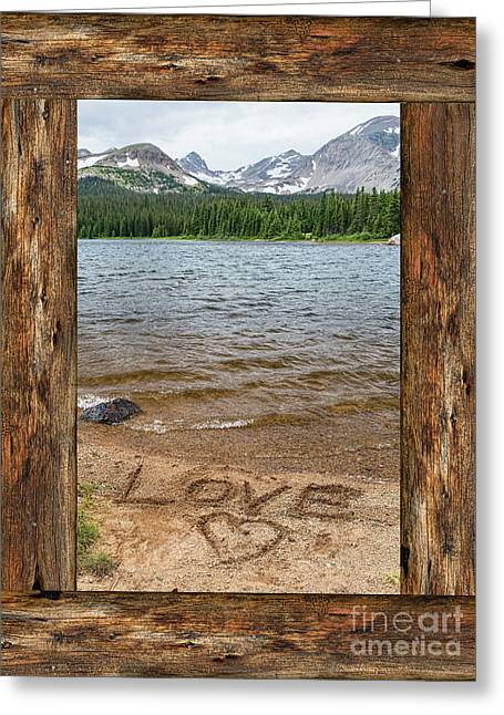 Colorado Love Window  Greeting Card by James BO Insogna