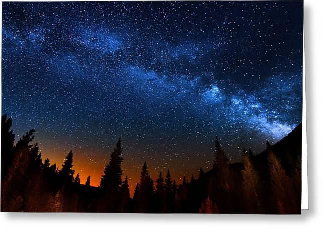 Colorado Milky Way Greeting Card by Mark Andrew Thomas