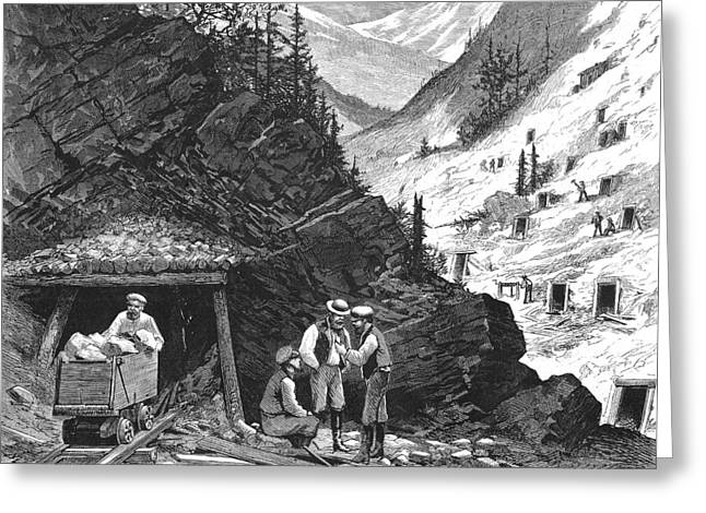 Prospector Greeting Cards - Colorado: Mining, 1874 Greeting Card by Granger