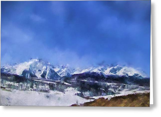 Colorado Mountains 1 Landscape Art By Jai Johnson Greeting Card by Jai Johnson