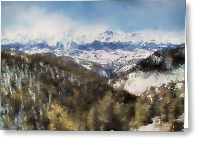 Colorado Mountains 4 Landscape Art By Jai Johnson Greeting Card