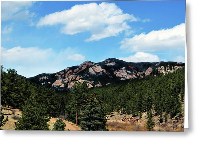 Colorado Mountains Greeting Card by Angelina Vick