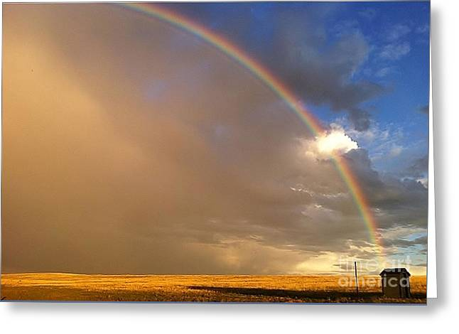 Colorado Rainbow Greeting Card by Ronnie Glover