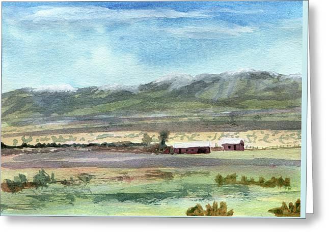 Colorado Ranch In North Park Greeting Card by R Kyllo