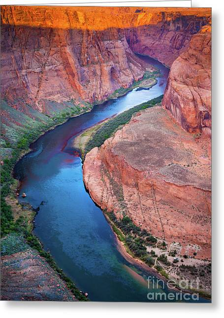 Colorado River Bend Greeting Card by Inge Johnsson