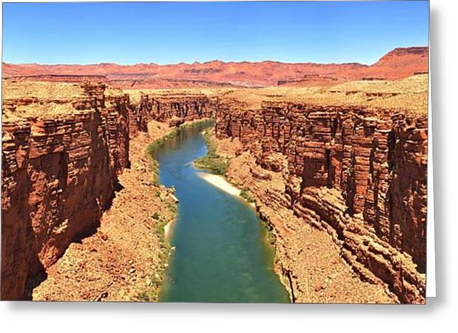 Colorado River Desert Landscape Greeting Card by Adam Jewell