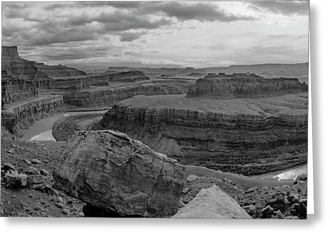 Colorado River Gooseneck Pano Greeting Card
