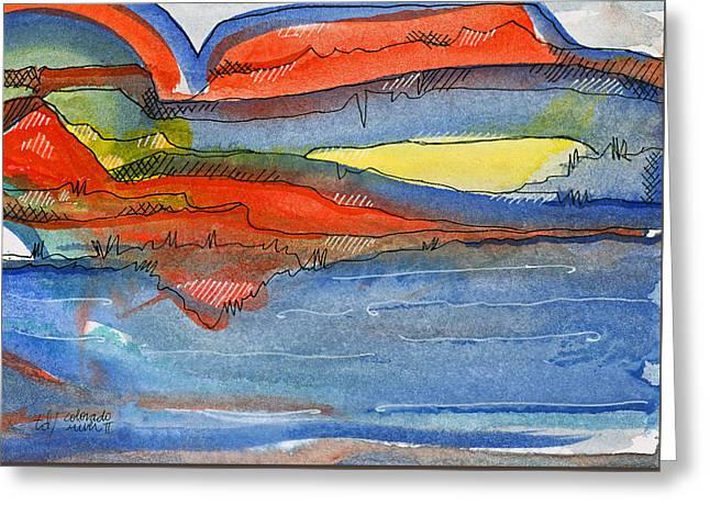 Colorado River II Greeting Card by Tonya Doughty