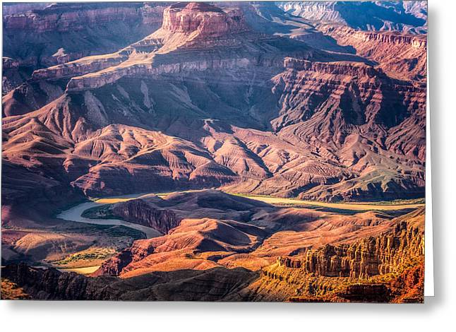 Greeting Card featuring the photograph Colorado River Winding Thru Grand Canyon by Claudia Abbott