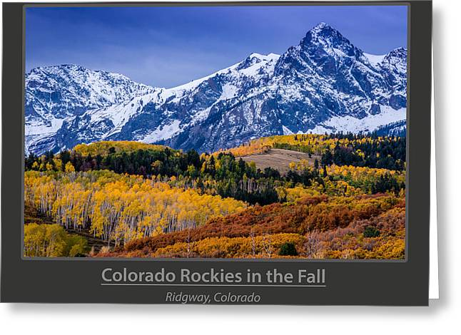 Colorado Rockies In The Fall - Ridgway Greeting Card by Gary Whitton