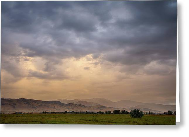 Greeting Card featuring the photograph Colorado Rocky Mountain Foothills Storms by James BO Insogna