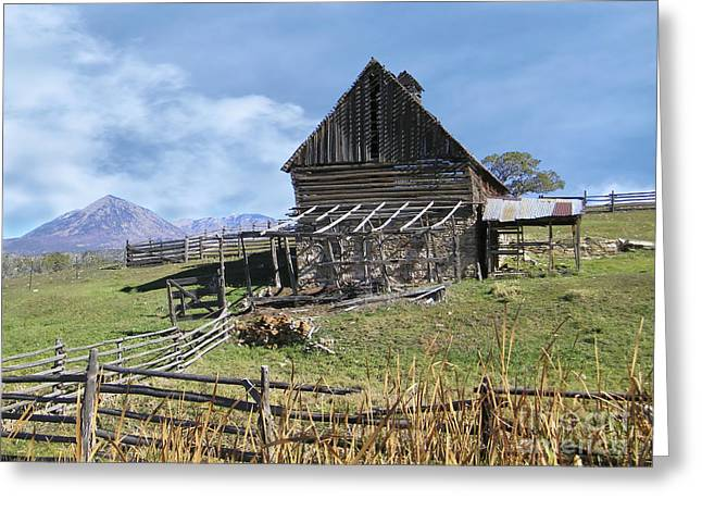 Colorado Rocky Mountain Vintage Barn   Greeting Card