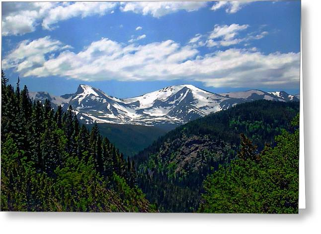 Colorado Rocky Mountains Greeting Card