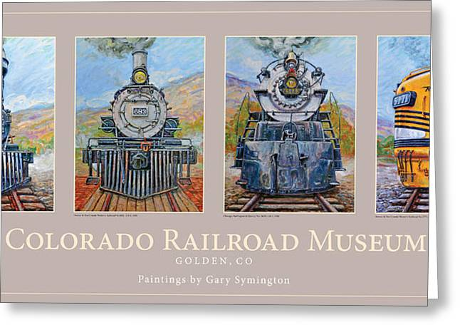 Colorado Rr Museum Quadtych Greeting Card by Gary Symington