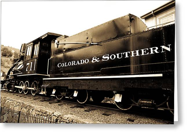 Central Greeting Cards - Colorado Southern Railroad 1 Greeting Card by Marilyn Hunt