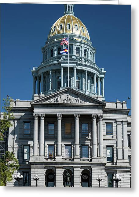 Colorado State Capitol Greeting Card by Steve Gadomski