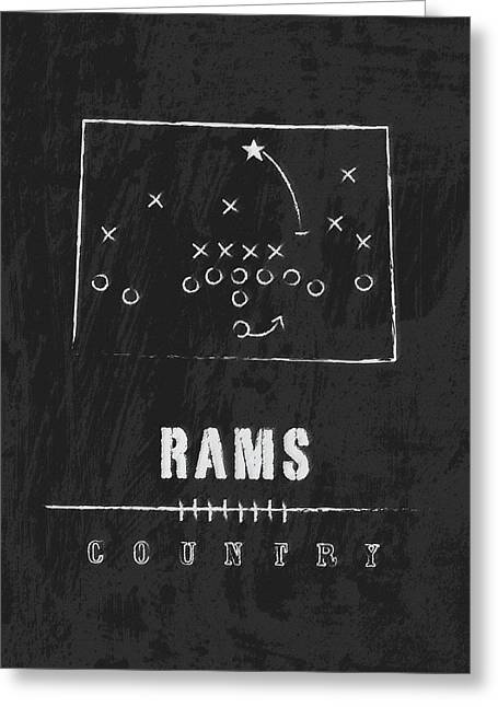 Colorado State Rams / Ncaa College Football Art / Fort Collins Greeting Card by Damon Gray