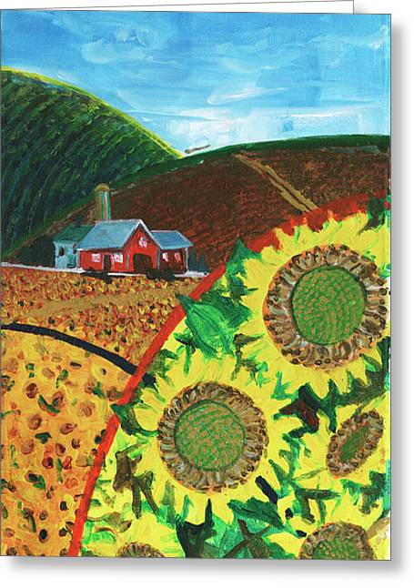 Colorado Sunflowers Greeting Card
